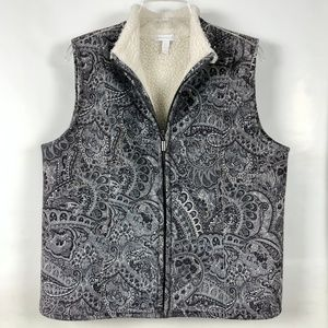 Charter Club suede feel sherpa lined vest